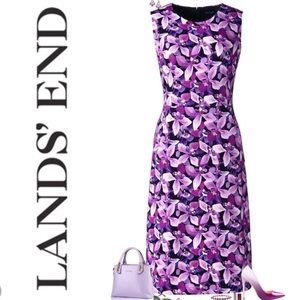 Purple Orchid Pencil Dress Floral